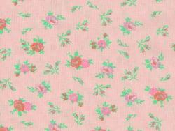Bedruckter Stoff - rosa mit Blumen
