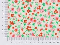 Tissu imprimé blanc à fleurs