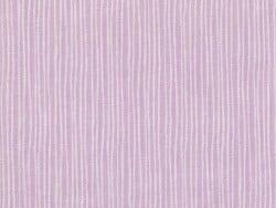 Bedruckter Stoff - mauve mit weißen Streifen