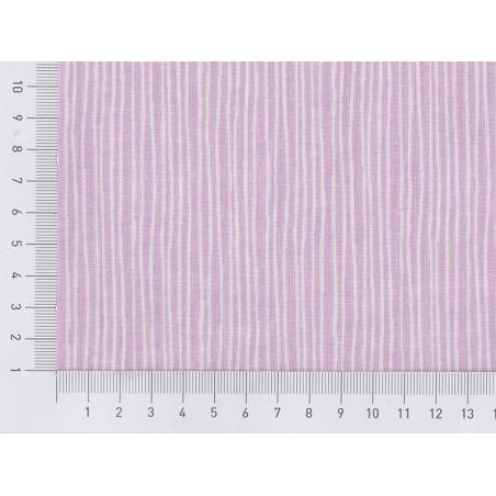 Tissu imprimé parme rayé blanc Rico Design - 2