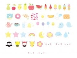 Accessoires lightbox - pack kawaii A little lovely Company - 1