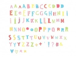 Lightbox accessories - funky colour letter set