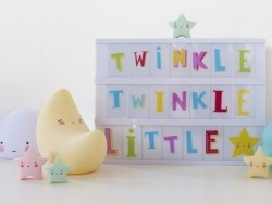 Lightbox accessories - funky colour letter set