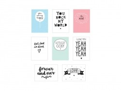 Pack 8 feuilles pour lightbox poster A4 - love - Accessoires lightbox