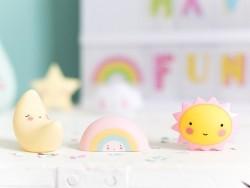 Kleine Dekofiguren - Mond / Regenbogen / Sonne