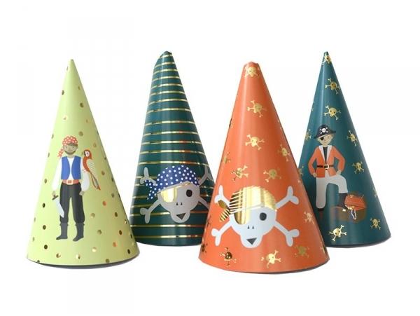 8 Chapeaux de fête - pirates