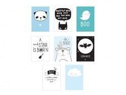 Pack 8 feuilles pour lightbox poster A4 - little boy - Accessoires lightbox
