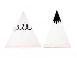 Kleiderhaken - weiße Berge