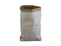 Großer Papiersack aus weißem Kraftpapier