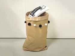 Grand sac en papier kraft blanc