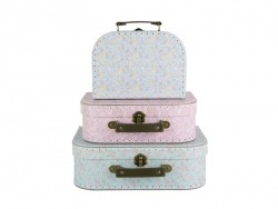 Set of 3 suitcases - hayflowers