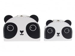 Set of 2 suitcases - panda