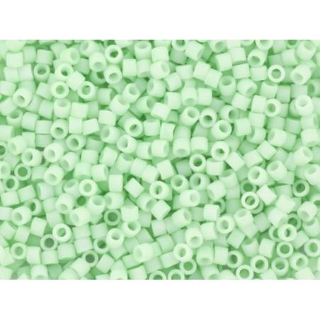 Miyuki Delicas 11/0 - opaque matte light mint (colour no. 1516)