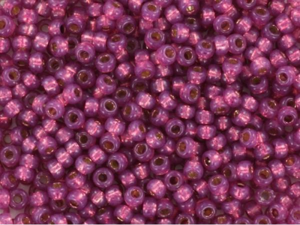 Rocailles Miyuki 11/0 - Rose pivoine à inclusion argentée 4247  - 1