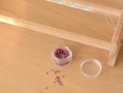Rocailles Miyuki 11/0 - Rose pivoine à inclusion argentée 4247