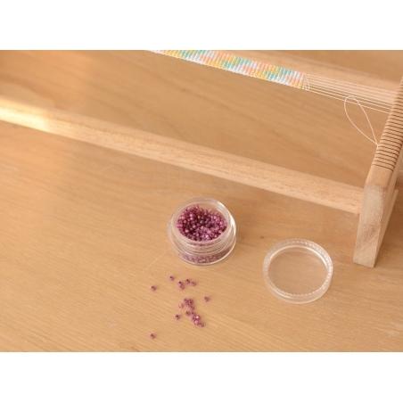 Rocailles Miyuki 11/0 - Rose pivoine à inclusion argentée 4247  - 2