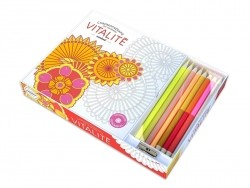 "Colour therapy kit - ""Chromothérapie 100 coloriages Vitalité"" (in French)"