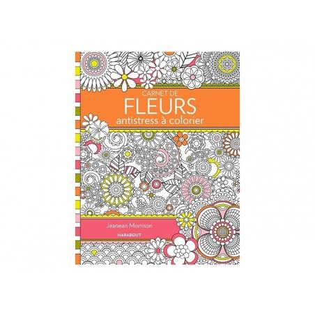 """Book - """"Carnet de Fleurs antistress à colorier"""" (in French)"""