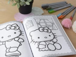 "Colouring book - ""Hello Kitty 100 colos"" (in French)"