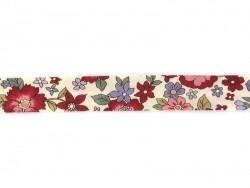 1m biais 20mm fleuri 20 - Lucie Frou-Frou - 1