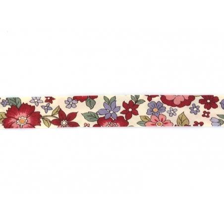 1m biais 20mm fleuri 20 - Lucie