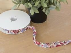1 m geblümtes Schrägband (20 mm) - Lucie (Farbnr. 13)