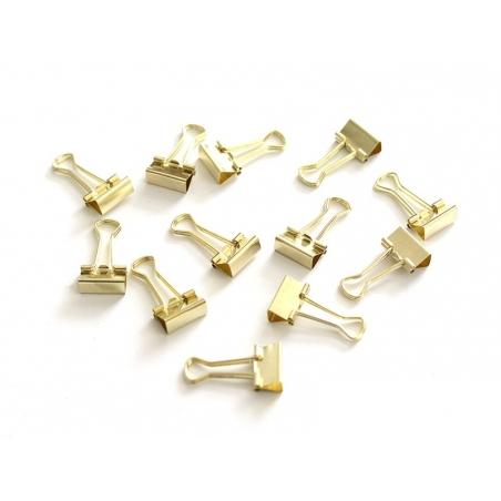Acheter 12 pinces clip dorées 19 mm - 5,90€ en ligne sur La Petite Epicerie - Loisirs créatifs