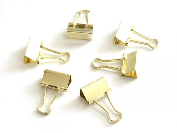 Acheter 6 pinces clip dorées 32 mm - 5,90€ en ligne sur La Petite Epicerie - Loisirs créatifs