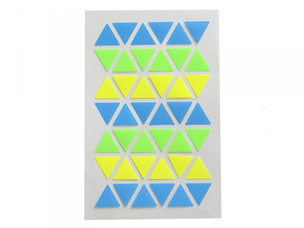 Stickers gommettes triangles bleu et vert fluo