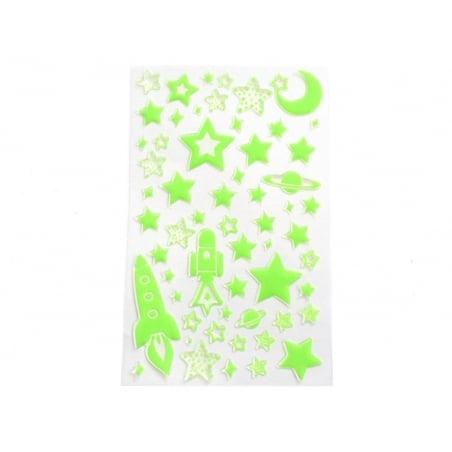 Stickers phosphorescent espace   - 2