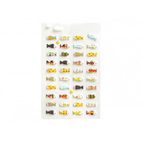Acheter Stickers fantaisies poissons multicolores 3D - 2,95€ en ligne sur La Petite Epicerie - Loisirs créatifs