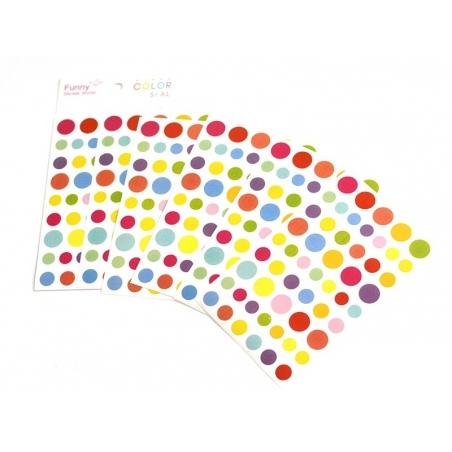 Acheter Stickers fantaisies - gommettes rondes multicolores - 2,95€ en ligne sur La Petite Epicerie - Loisirs créatifs