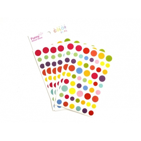 Stickers - round (different colours)