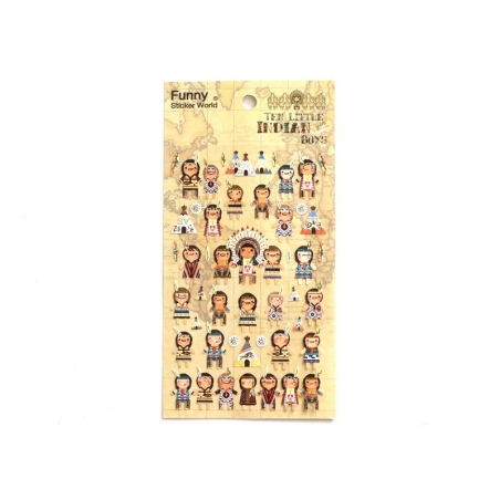Stickers fantaisies - Indiens
