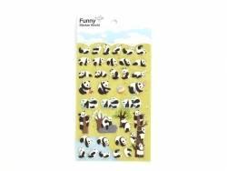 Stickers fantaisies - pandas