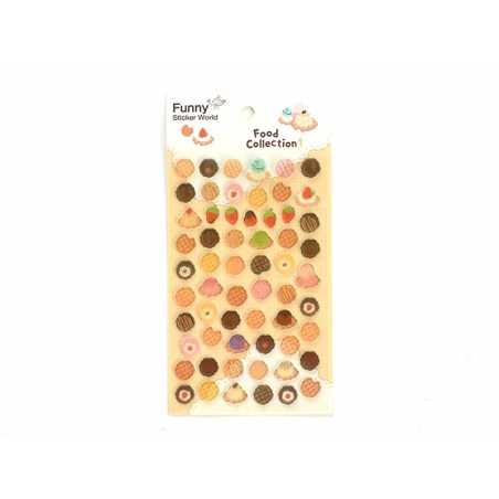 Stickers fantaisies - Food Collection 1 / Sucreries
