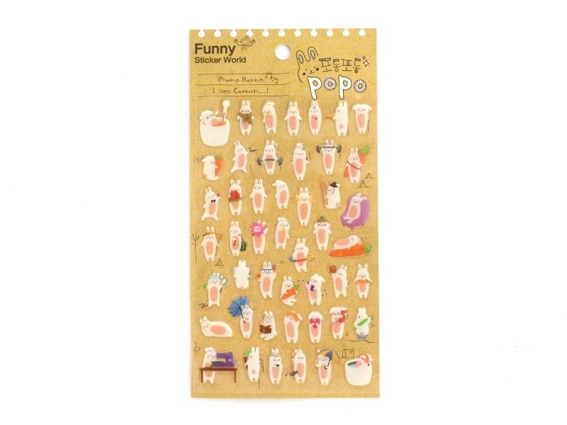 Stickers - Plump rabbit