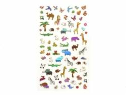 Stickers fantaisies - Animaux brillants