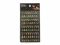 Stickers fantaisies - Oiseaux tropicaux brillants  - 1