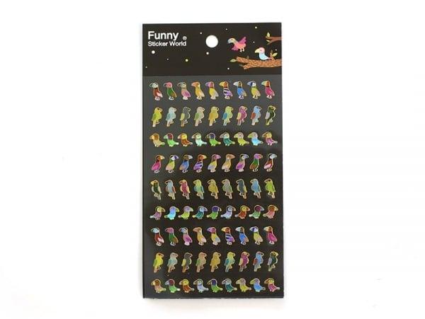 Acheter Stickers fantaisies - Oiseaux tropicaux brillants - 2,95€ en ligne sur La Petite Epicerie - Loisirs créatifs