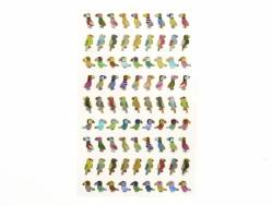 Stickers fantaisies - Oiseaux tropicaux brillants