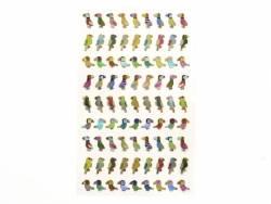 Stickers fantaisies - Oiseaux tropicaux brillants