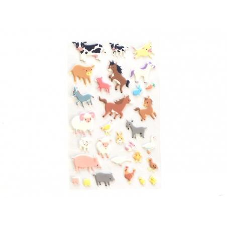 Stickers fantaisies - Animaux de la ferme