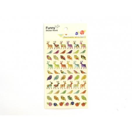 Acheter Planche de stickers - animaux de la forêt - 2,95€ en ligne sur La Petite Epicerie - 100% Loisirs créatifs