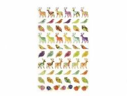 Stickers fantaisies - pattern animaux de la forêt