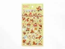 Stickers fantaisies - Jack le panda roux