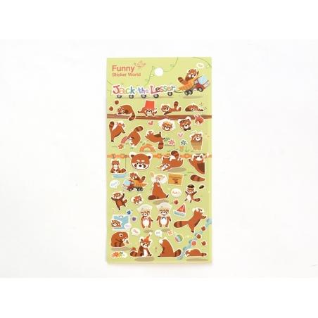 Stickers fantaisies - Jack le panda roux  - 1
