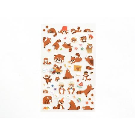 Stickers fantaisies - Jack le panda roux  - 2