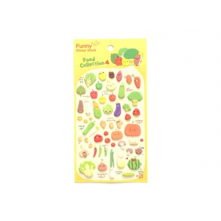 Stickers fantaisies - légumes  - 1