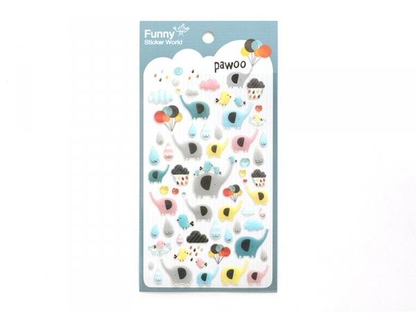 Stickers fantaisies - éléphants Pawoo